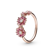 Pink Daisy Flower Trio Ring by Pandora