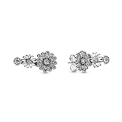 Sparkling Daisy Flower Trio Earrings by Pandora