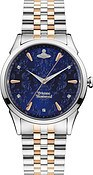 Vivienne Westwood Wallace Blue Mixed Metal Bracelet Watch