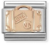 Rose Gold Suitcase Charm by Nomination