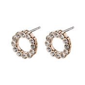 Pilgrim Rose Gold Malin Earrings