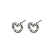 Pilgrim Silver Edie Heart Earrings