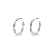 Pilgrim Silver Naja Twist Hoop Earrings