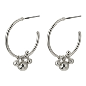 Pilgrim Silver Earth Hoop Earrings