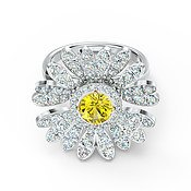 Swarovski Eternal Flower Hinged Ring Size 52