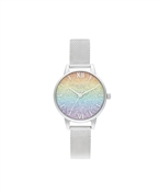 Olivia Burton Rainbow Silver Wishing Wave Watch