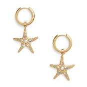 Olivia Burton Gold Starfish Huggie Earrings