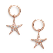 Olivia Burton Rose Gold Starfish Huggie Earrings