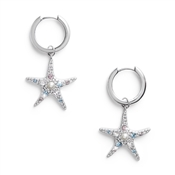 Olivia Burton Silver Starfish Huggie Earrings