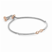 Silver + Rose Gold Milleluci Infinity Bracelet  by Nomination