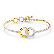 Swarovski Stone Gold Links Bangle