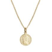 Gold Coin Necklace by Argento