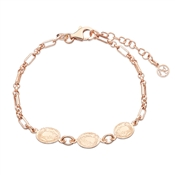 Argento Rose Gold Triple Coin Bracelet