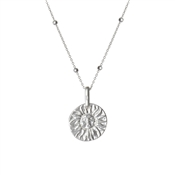 Argento Silver Beaded Coin Necklace