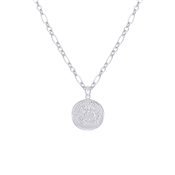 Argento Silver Large Coin Necklace