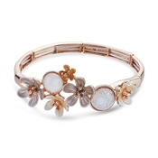August Woods Neutral Flower Bracelet