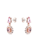 Ted Baker Rose Gold Pink Crystal Daisy Drop Earrings
