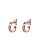 Ted Baker Rose Gold Rainbow Crystal Huggie Earrings