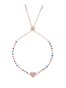 Ted Baker Rose Gold Rainbow Heart Bracelet