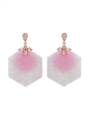 Ted Baker Rose Gold + Pink Honey Bee Drop Earrings