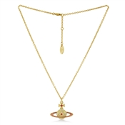 Vivienne Westwood Gold + Pink Kika Necklace