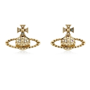 Vivienne Westwood Gold Mayfair Bas Relief Earrings