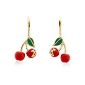 Vivienne Westwood Gold Misty Cherry Drop Earrings