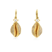 Vivienne Westwood Gold Jill Shell Drop Earrings
