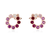 Vivienne Westwood Pink Marceline Circle Earrings