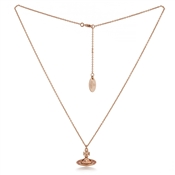 Vivienne Westwood Rose Gold + Pink Pina Necklace