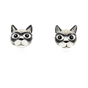 Grey Cat Earrings by Vivienne Westwood