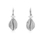 Vivienne Westwood Silver Jill Shell Drop Earrings