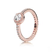 Classic Rose Sparkle Halo Ring by Pandora
