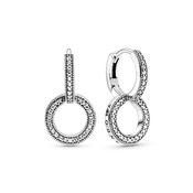 Pandora Pandora Signature Double Hoop Earrings