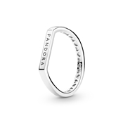 Pandora Silver Signature Flat Ring by Pandora