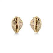Vivienne Westwood Gold Jill Shell Earrings