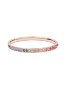Ted Baker Rose Gold Rainbow Crystal Bangle