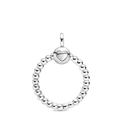 Pandora Small Silver Beaded O Pendant