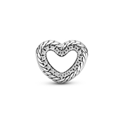Crystal Snake Chain Open Heart Charm by Pandora