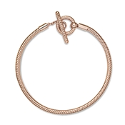Pandora Rose Moments T-Bar Snake Chain Bracelet