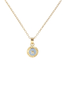 Ted Baker Gold & Blue Mini Button Necklace