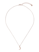 Ted Baker Rose Gold Crescent Moon Necklace