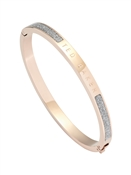 Ted Baker Rose Gold & Glitter Enamel Bangle