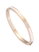 Ted Baker Rose Gold & Pink Enamel Bangle