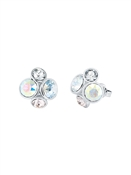 Ted Baker Silver Jewel Cluster Earrings