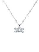 Ted Baker Silver Sparkle Bow Necklace