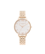 Olivia Burton Rose Gold Sparkling Glitter Watch