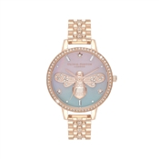 Olivia Burton Rose Gold Sparkle Bee Watch