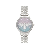 Olivia Burton Silver Sparkle Bee Watch