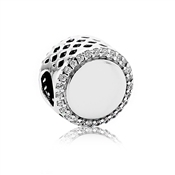 Pandora Engraving Button Charm